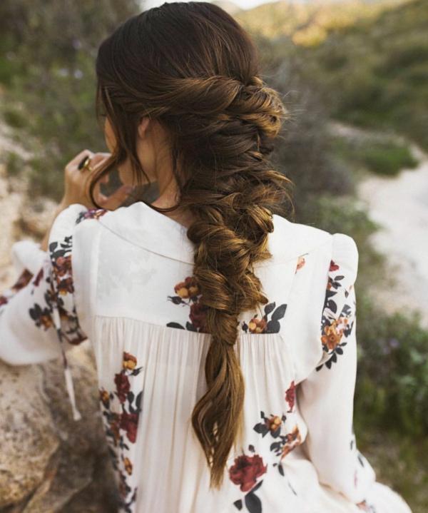 coiffure mariage tresse décontractée torsions