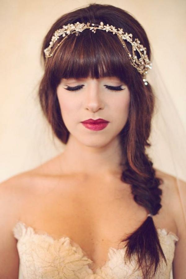 coiffure mariage tresse diadème