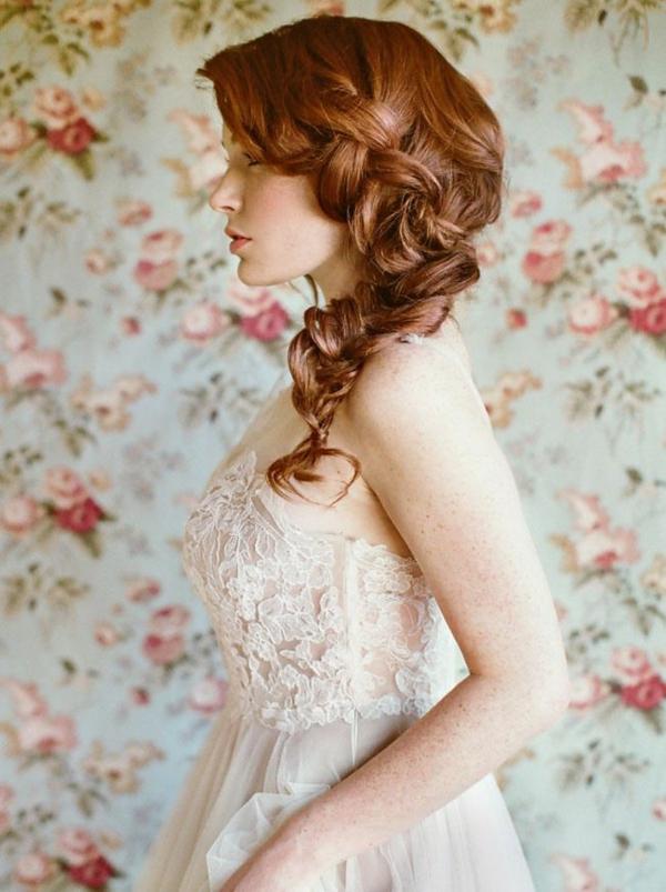 coiffure mariage tresse lâche latérale