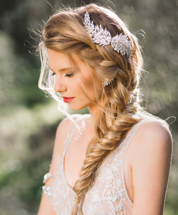 coiffure mariage tresse latérale