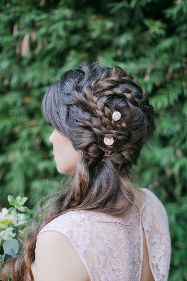 coiffure mariage tresse tresses classiques à trois brins