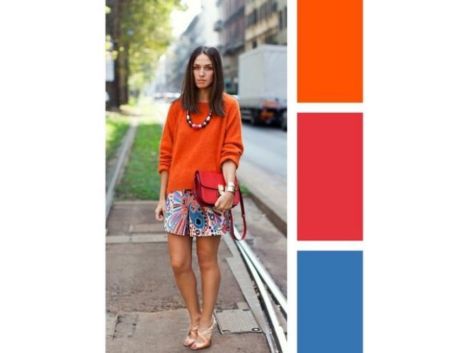 couleurs printemps tendance 2019 jupe à motifs