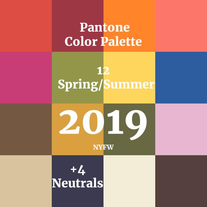couleurs printemps tendance 2019 la palette de Pantone