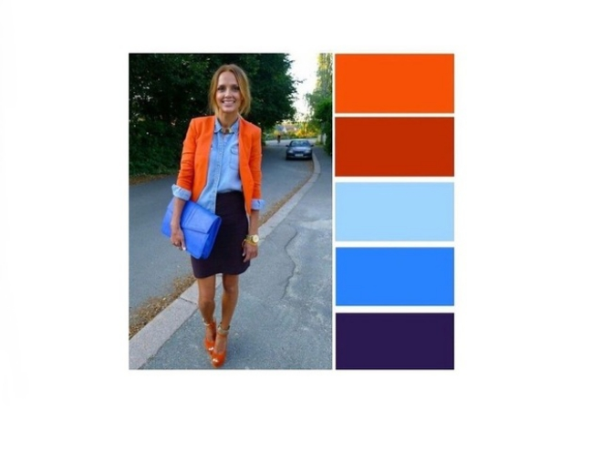 couleurs printemps tendance 2019 orange brûlé