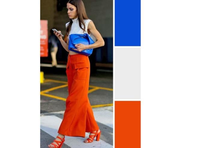 couleurs printemps tendance 2019 pantalon large