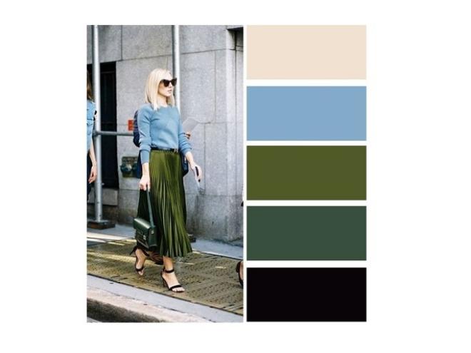 couleurs printemps tendance 2019 vert et bleu