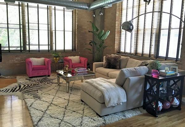 déco maison feng shui fauteuils roses