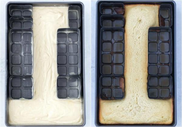 diy gâteau chiffre anniversaire moule