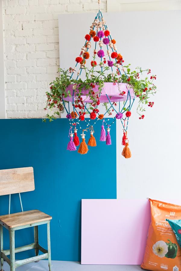 diy suspension papier pajaki pour plantes