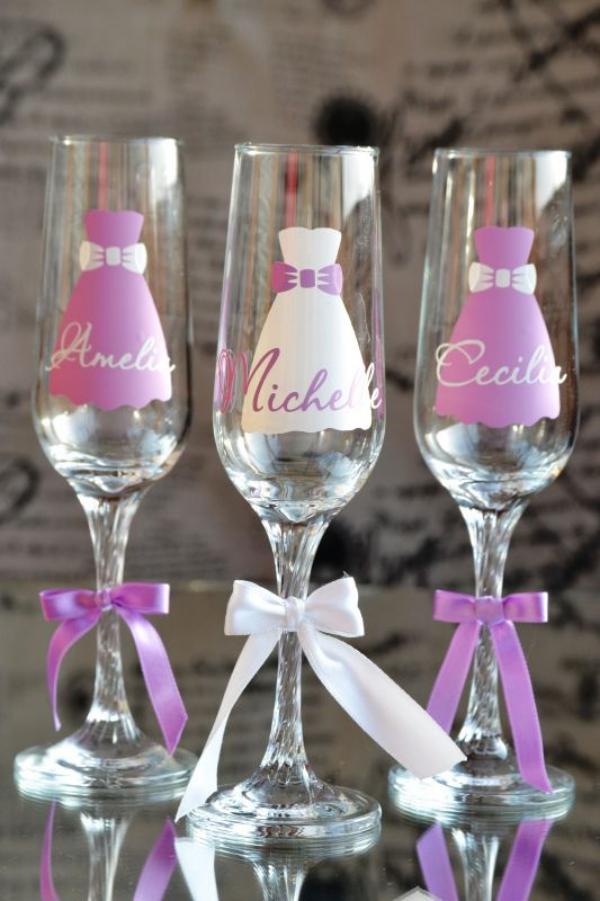 enterrement vie jeune fille verres pour les invités