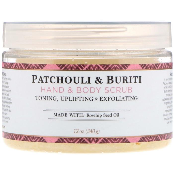 exfoliant au patchouli et huile de buriti