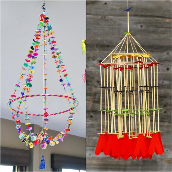 fabriquer suspension papier pajaki idée déco