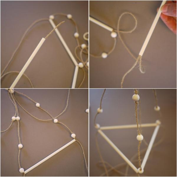 fabriquer une suspension papier sixième étape