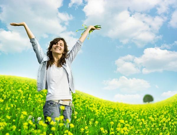 fatigue de printemps soleil et bonheur