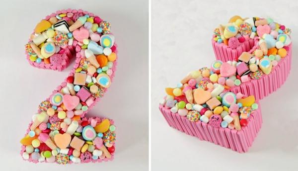gâteau chiffre 2 anniversaire candy