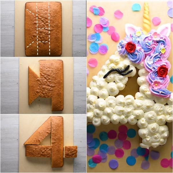 gâteau chiffre 4 technique coupe