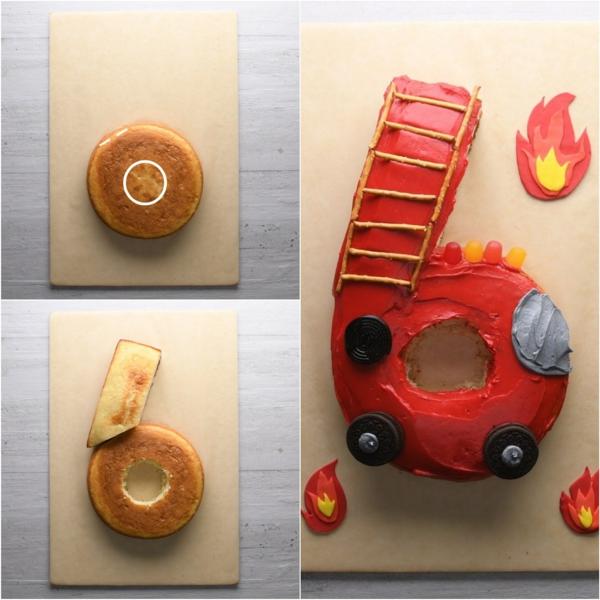 gâteau chiffre 6 technique coupe