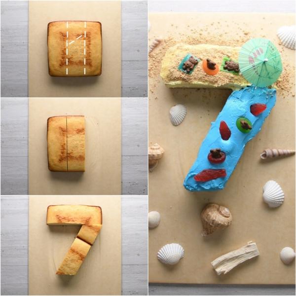 gâteau chiffre 7 technique coupe