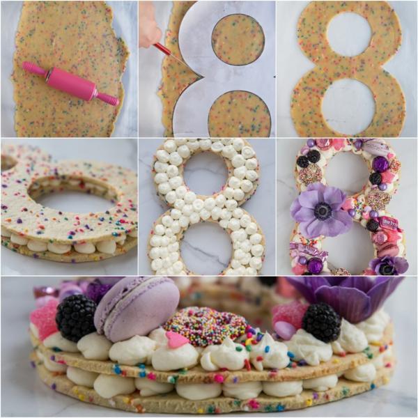 gâteau chiffre anniversaire enfant perles de sucre