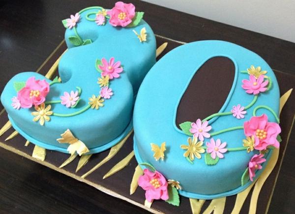 gâteau chiffre anniversaire pâte à sucre