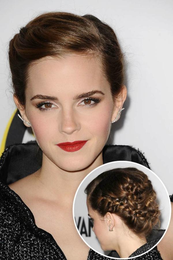 idée de coiffure mariage tresse inspirée de Emma Watson