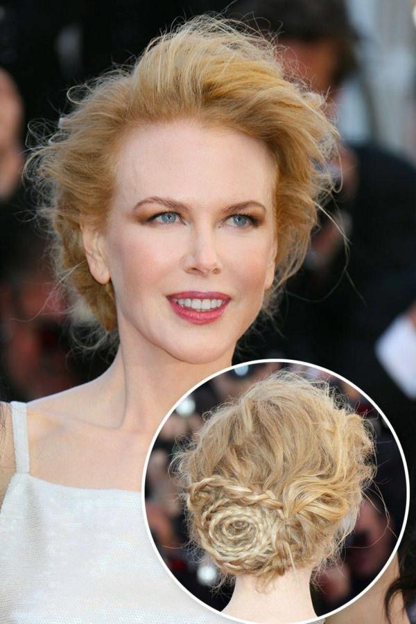idée de coiffure mariage tresse inspirée de Nicole Kidman