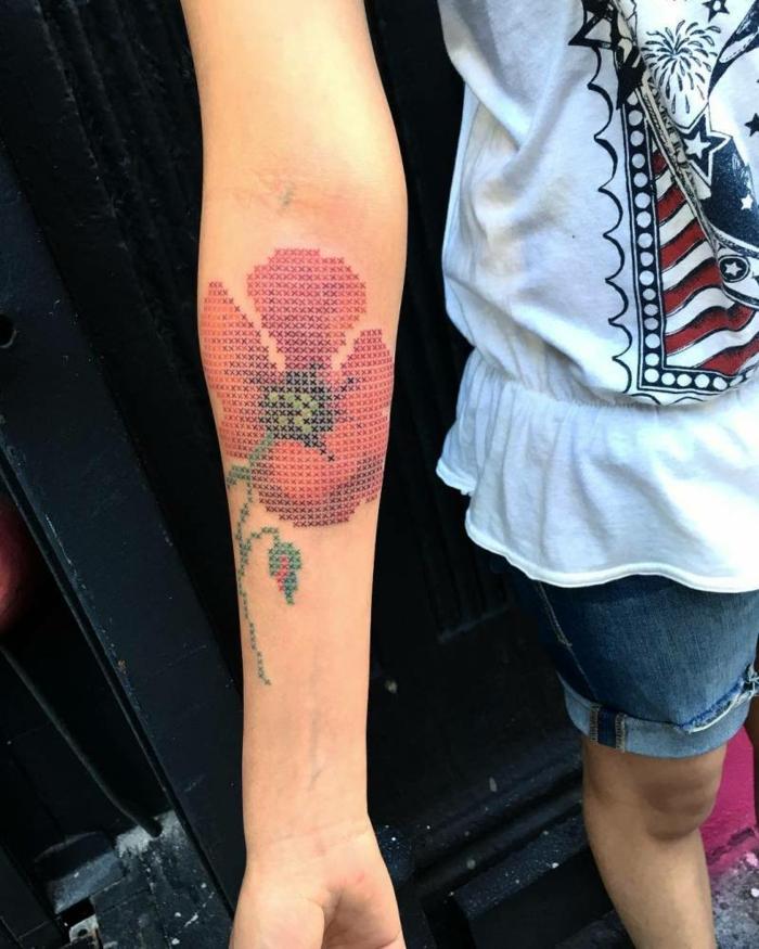 idée originale tatouage broderie
