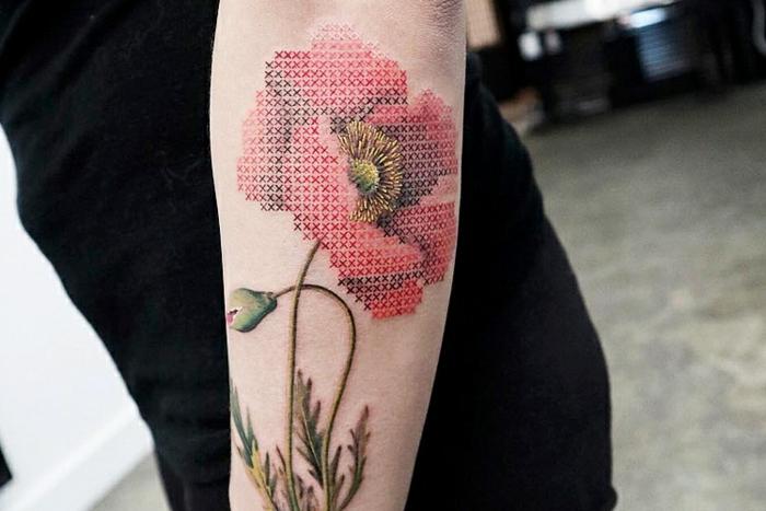 idée tatouage broderie