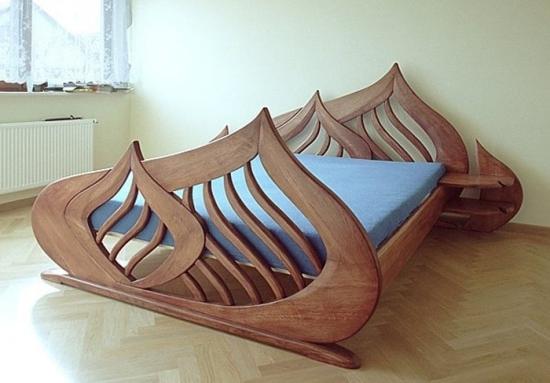 instaurer le bien-être à la maison lit en bois