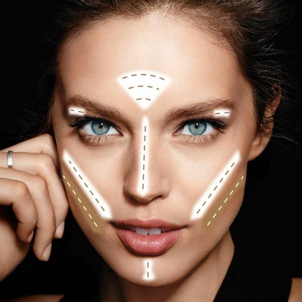 maybelline contouring visage rond facile highlighter