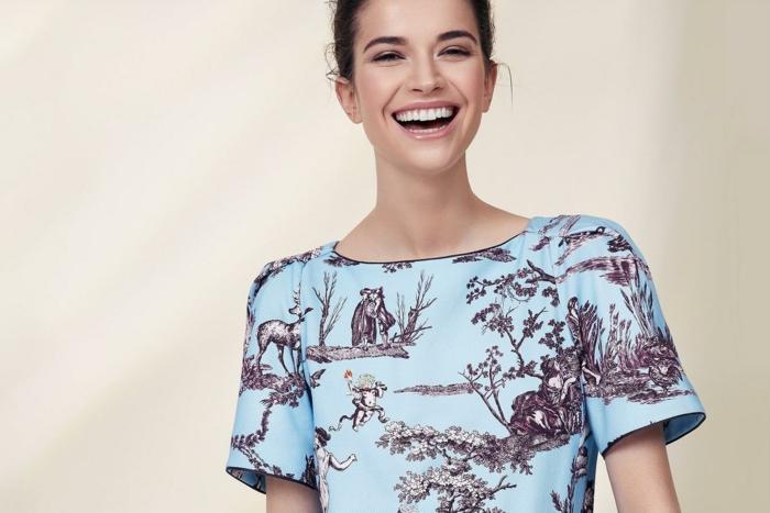 mode femme t-shirt en toile de jouy