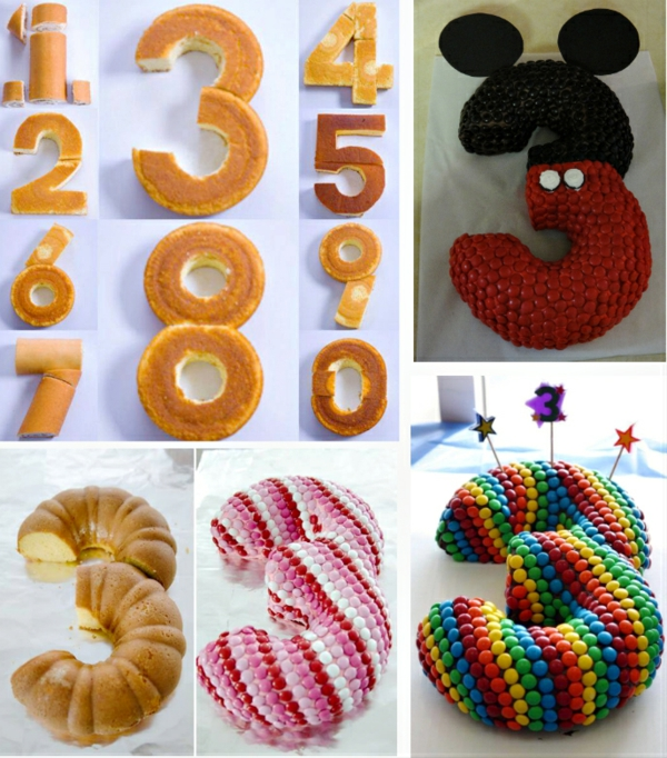 préparer gâteau chiffre anniversaire 3