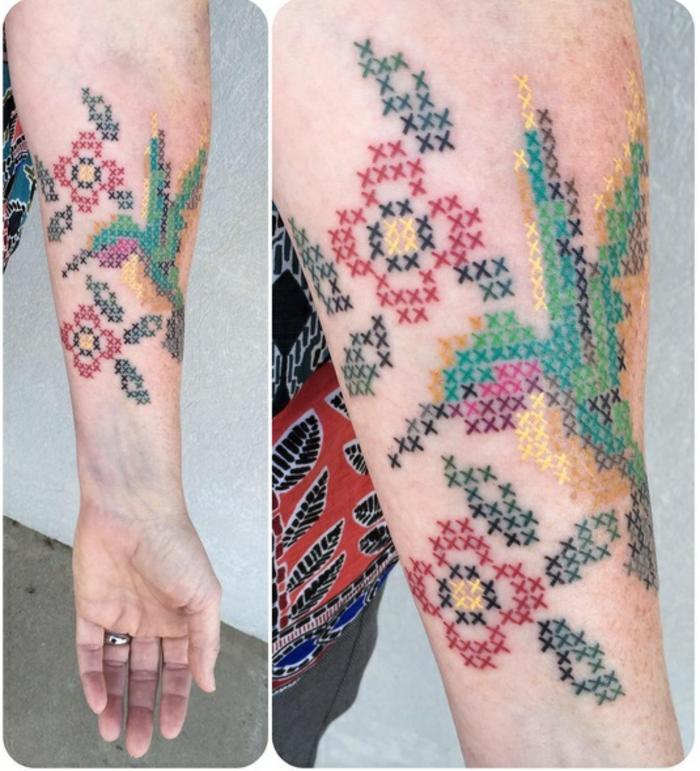proposition originale de tatouage broderie