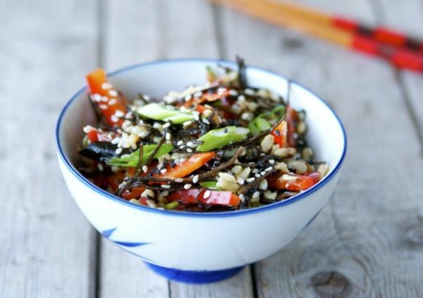 recette salade d'algues au riz brun