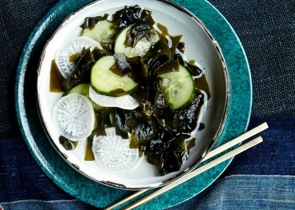 recette salade d'algues concombre