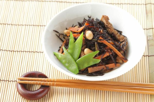 recette salade d'algues hijiki aux carottes