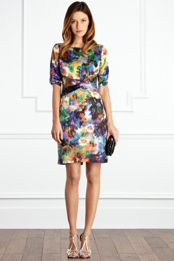 robe invitée mariage tendances 2019 robe courte colorée manches courtes col rond