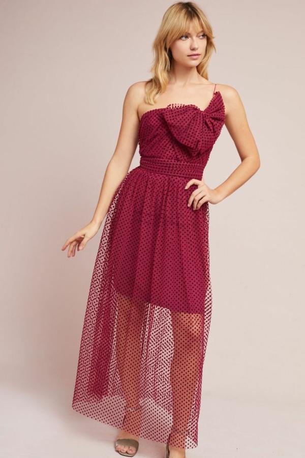 robe invitée mariage tendances 2019 robe décontractée rouge volant