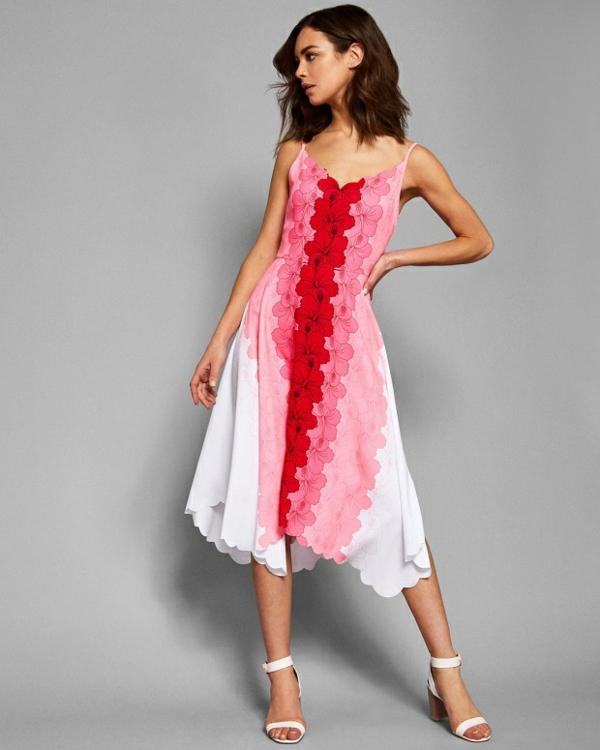 robe invitée mariage tendances 2019 robe décontractée trois couleurs à bretelles