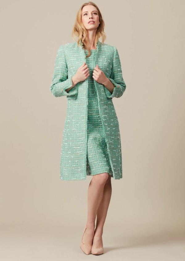 robe invitée mariage tendances 2019 robe en laine avec veste longue