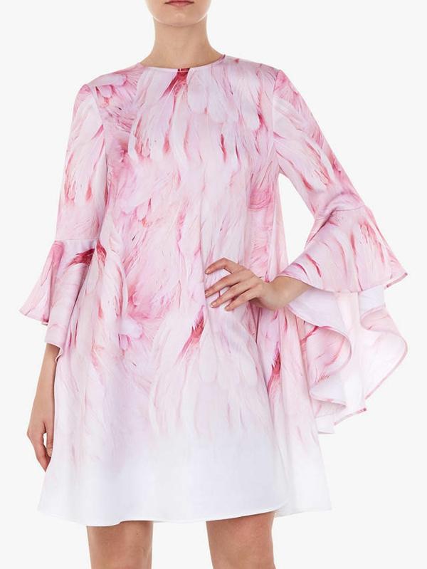 robe invitée mariage tendances 2019 robe moulante manches larges col haut