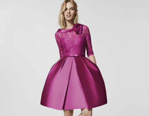 robe invitée mariage tendances 2019 robe patineuse fuschia dentelle