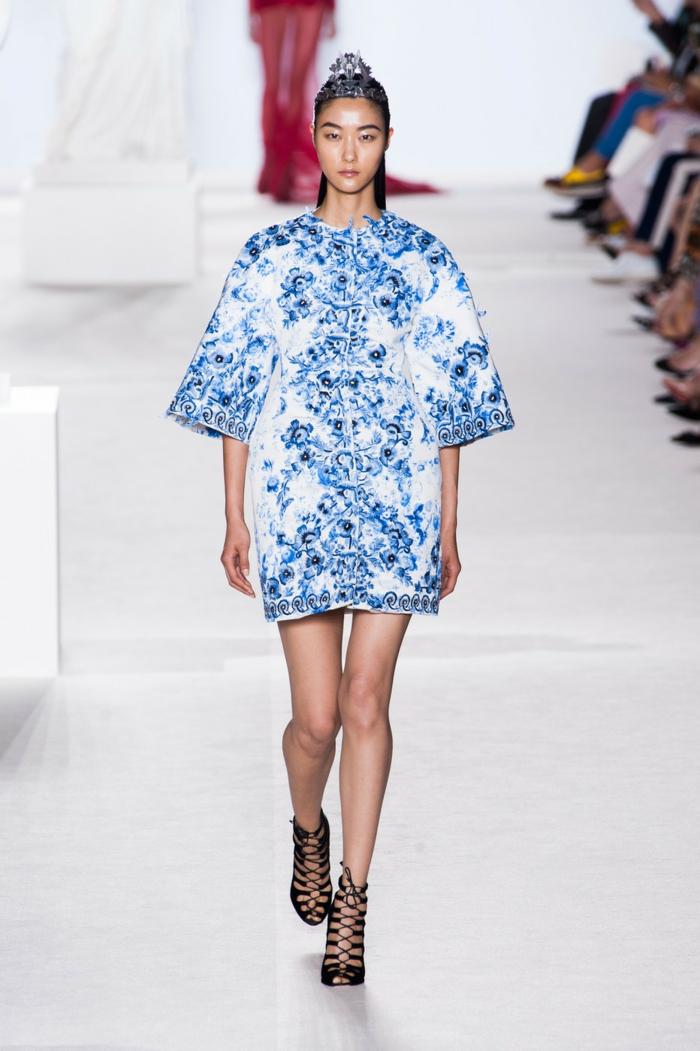 robe moderne toile de jouy