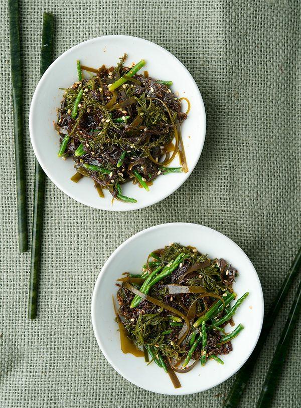 salade d'algues recette de salade de wakame et haricots de mer