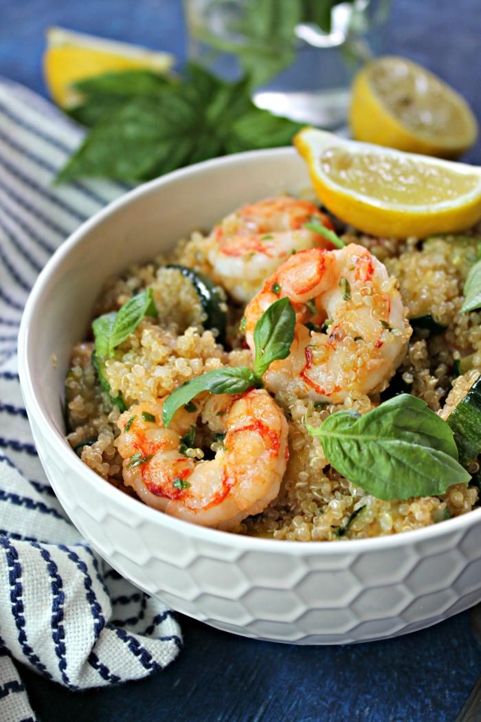 salade de crevettes au quinoa