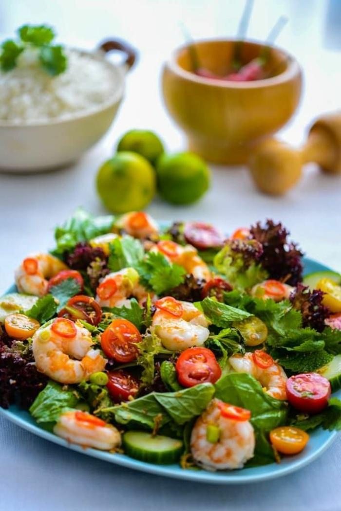 salade de crevettes pour l'été