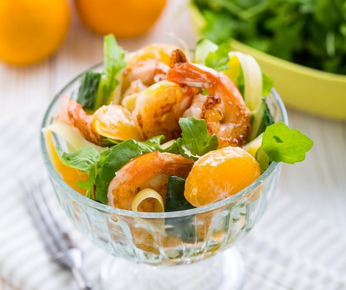 salade de crevettes rafraîchissante