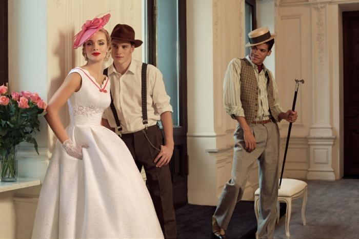 style retro idée tenue mariage homme