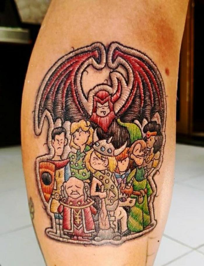tatouage broderie