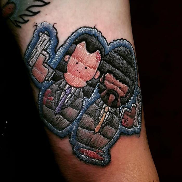 tatouage broderie idée pour homme